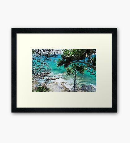 Coastal Green Framed Print