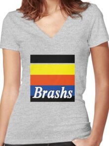 Brashs Women's Fitted V-Neck T-Shirt