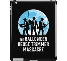 The Halloween Hedge Trimmer Massacre iPad Case/Skin
