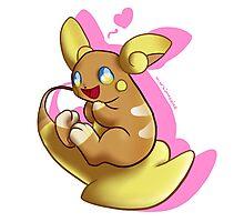 Cute Pokemon Raichu from Alola! Photographic Print
