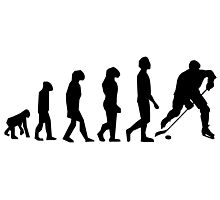 Hockey Evolution Photographic Print