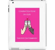 Valentines Day Engagement Congratulations iPad Case/Skin