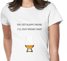Whisky Drunk Womens Fitted T-Shirt