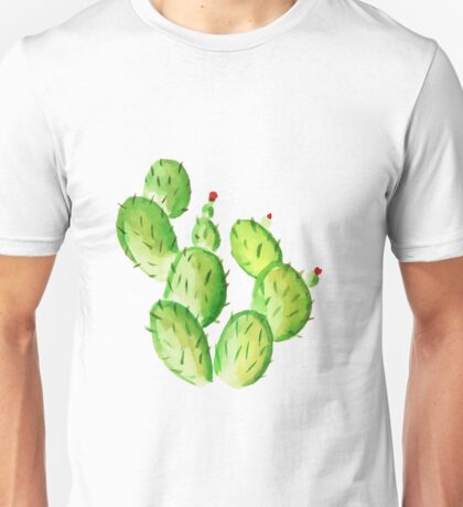 watercolor cactus print Unisex T-Shirt