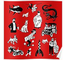 tintin collection Poster