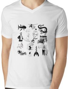 tintin collection Mens V-Neck T-Shirt