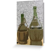 bottle of wine Greeting Card