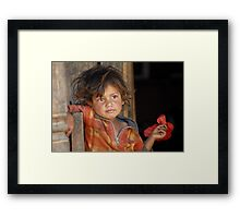 A young boy from Nepal  Framed Print