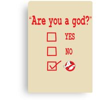 GOD? Canvas Print