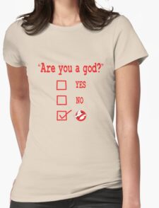 GOD? Womens Fitted T-Shirt