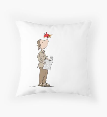 The perfect perch Throw Pillow