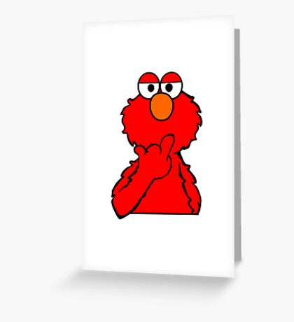 Elmo is Out of Fucks to Give Greeting Card