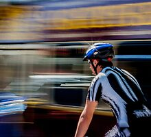 Urban cyclist by Patricia Taylor Photography