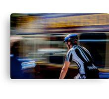 Urban cyclist Canvas Print