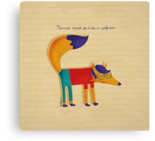 Monsieur Renard, Mister Fox Canvas Print