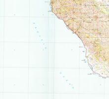 USGS TOPO Map California CA Cambria 299057 1980 100000 geo Sticker