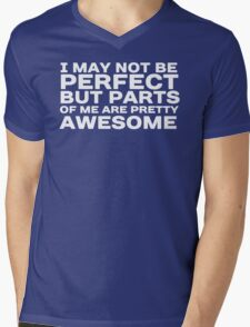 I may not be perfect but parts of me are pretty awesome Mens V-Neck T-Shirt
