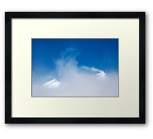 Looking to the peaks Framed Print