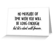 Let's start with forever. Greeting Card