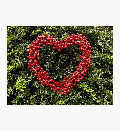 Berry Heart Photographic Print
