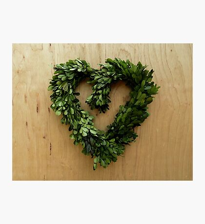 Leafy Heart Photographic Print
