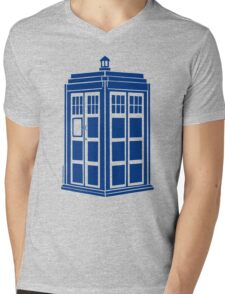 Colour Me Tardis Mens V-Neck T-Shirt