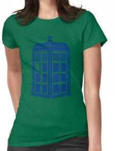 Colour Me Tardis Womens Fitted T-Shirt