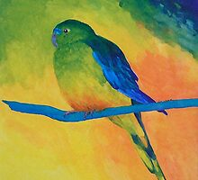 Orange-bellied Parrot by Margaret Saheed