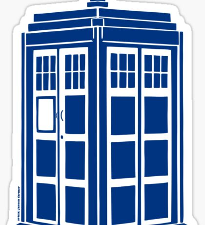 Colour Me Tardis Sticker