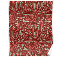 Red Pepper - pattern Poster