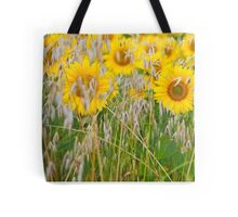 The live of the sunflowers 3 Tote Bag