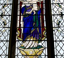 Stained Glass Window- Madonna and Child by Circe Lucas