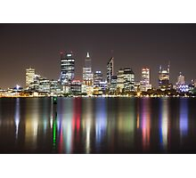 Perth Skyline By Night Photographic Print