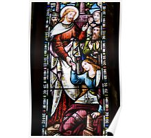 Stained Glass Window- Jesus Poster