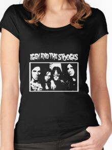 Iggy and the Stooges Women's Fitted Scoop T-Shirt