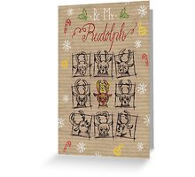 """""""Be my Rudolph"""" Christmas-Card Greeting Card"""
