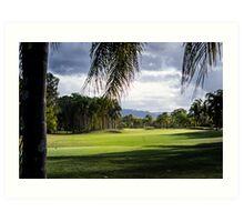 Golf Day Art Print