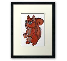 Geek Squirrel Framed Print