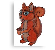Geek Squirrel Canvas Print