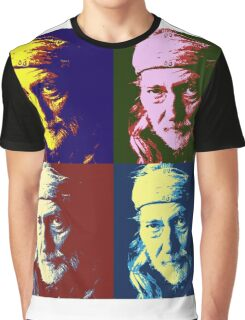 Willie Nelson Pop Art Graphic T-Shirt