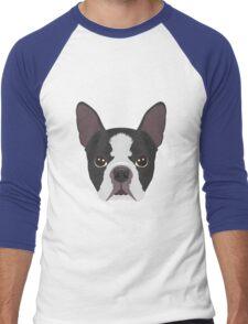 Boston Terrier Pyjama T-Shirt Men's Baseball ¾ T-Shirt
