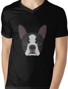 Boston Terrier Pyjama T-Shirt Mens V-Neck T-Shirt