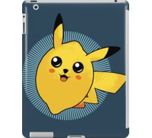 t-shirt pokemon kid t-shirt pikachu t-shirt cute kawai t-shirt fruit t-shirt citron t-shirt lemon iPad Case/Skin