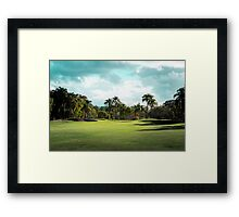 Golf Day Troubles Framed Print