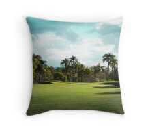 Golf Day Troubles Throw Pillow