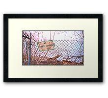 police order.  Framed Print