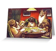 Dogs Playing Cards (1903-1905) Greeting Card