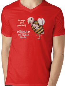Rhea - Always Bee Yourself Mens V-Neck T-Shirt