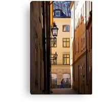 Backstreets Gamlastan, Stockholm Canvas Print