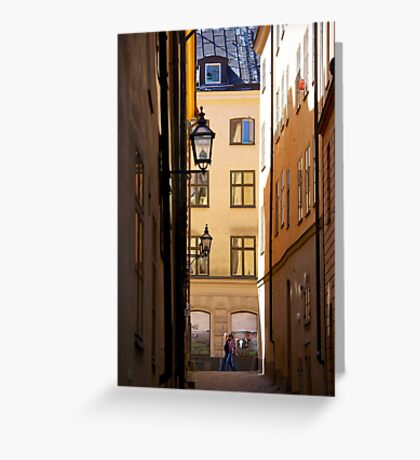 Backstreets Gamlastan, Stockholm Greeting Card